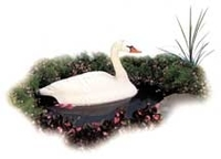 Image Floating Swan Pond Decor