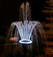 Image Pondmaster 18-LED Light Ring with Fountain Head