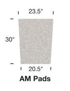 Image AMM Replacement Filter Pad Medium Aquafalls
