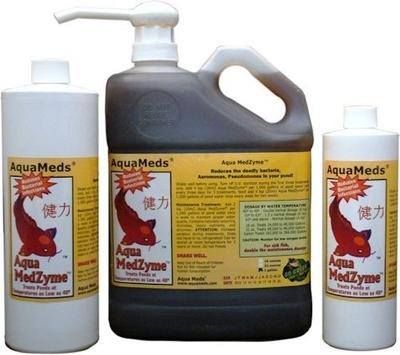 Image Aqua Meds MZL16-MZL32-MZL128 Aqua MedZyme Liquid Pond Bacteria
